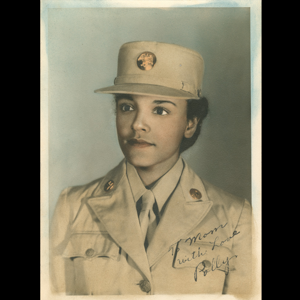 Hand tinted portrait of Pauline C. Cookman in uniform Collection of the Smithsonian National Museum of African American History and Culture