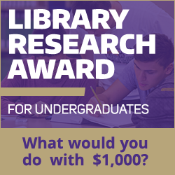 library research award for undergraduates logo