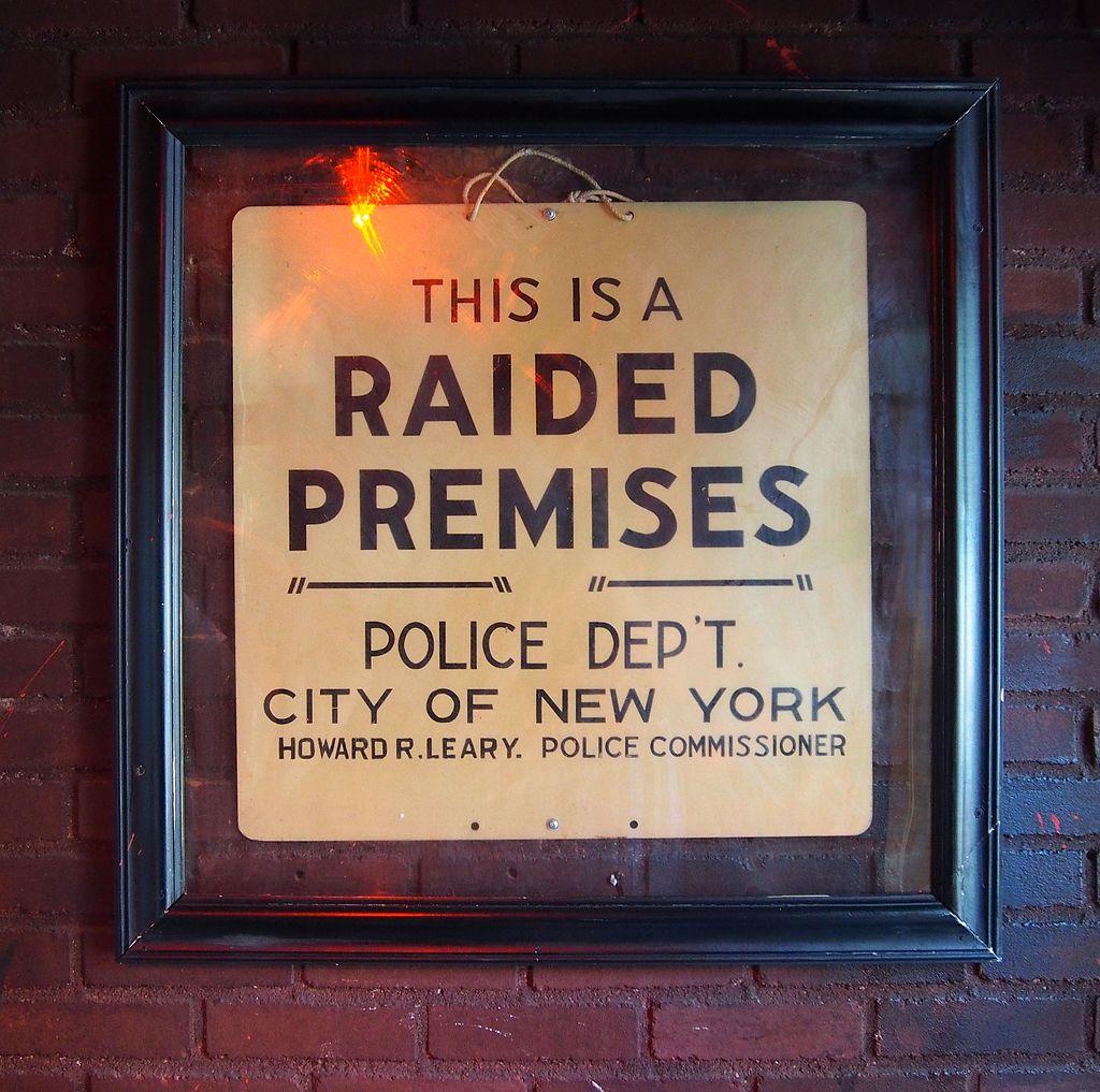 Stonewall Inn Raid Sign