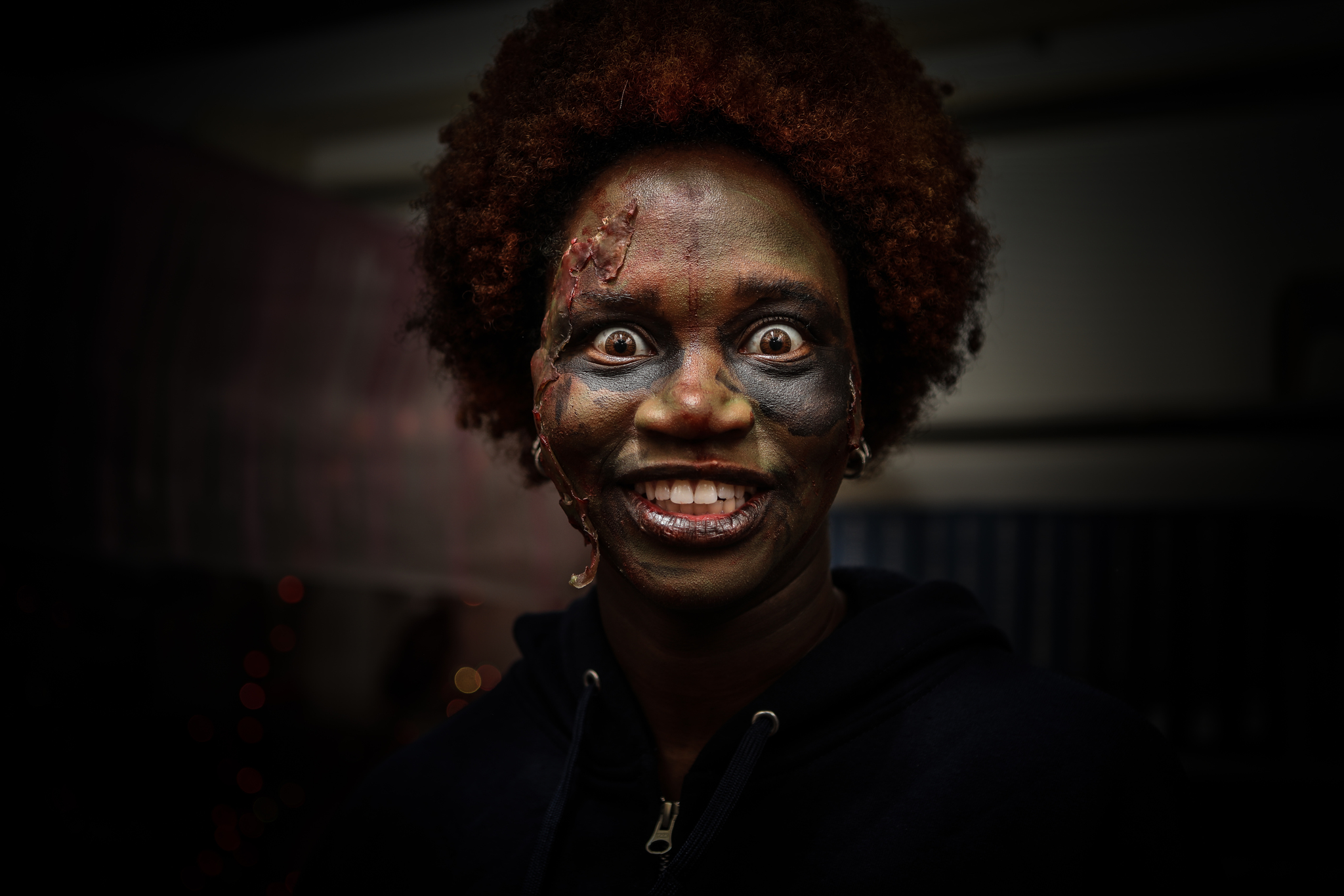 Haunted library zombie actor