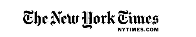 logo of The New York Times with NYTimes.com logo below it