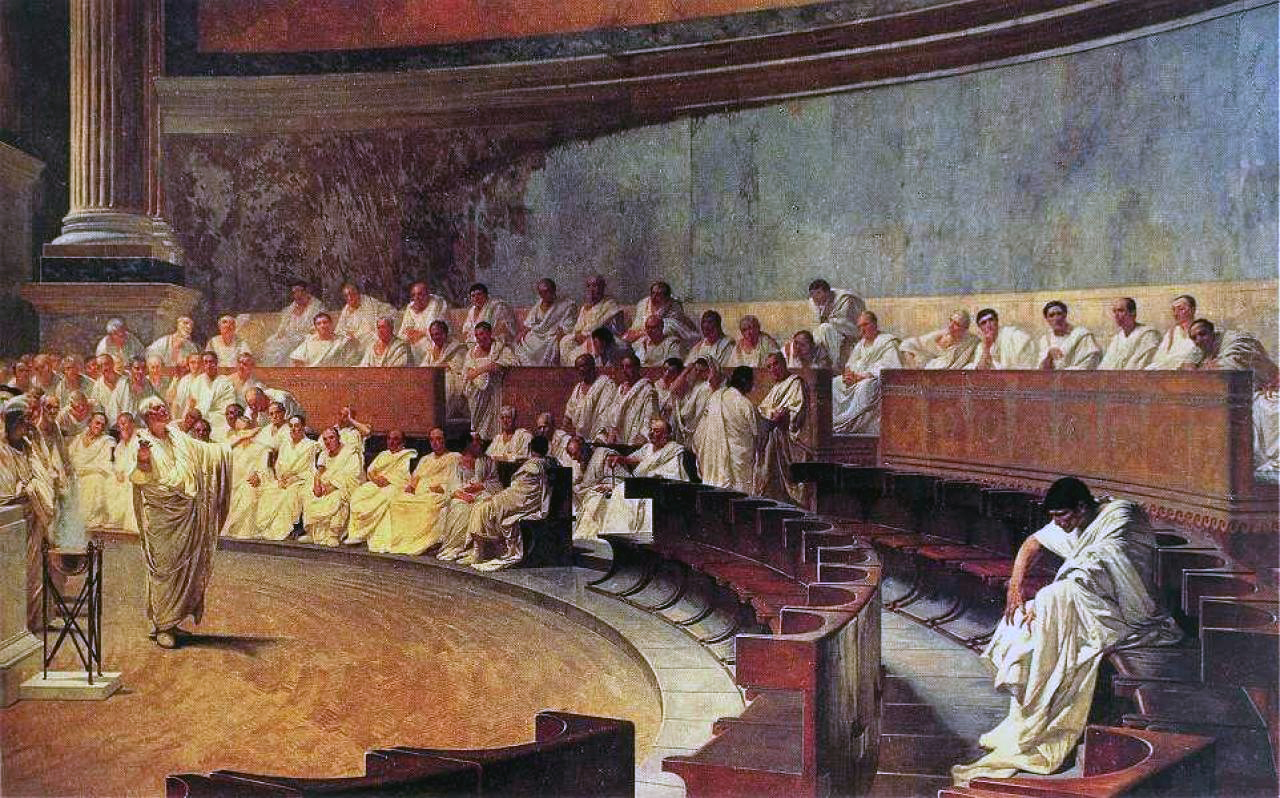 Cicero Denounces Caitiline