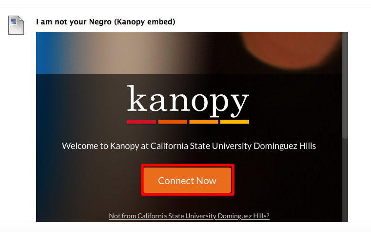 login prompt embedded Kanopy video