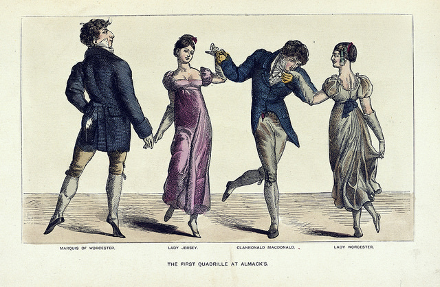 British Library The First Quadrille Illustration 1852