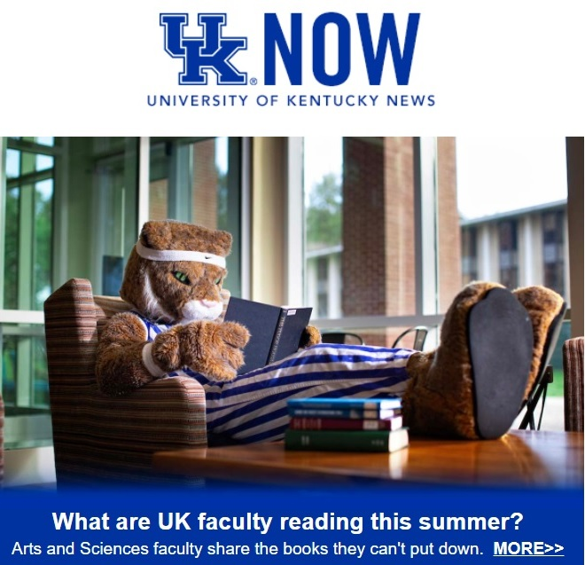UKNow College of Arts and Sciences reading