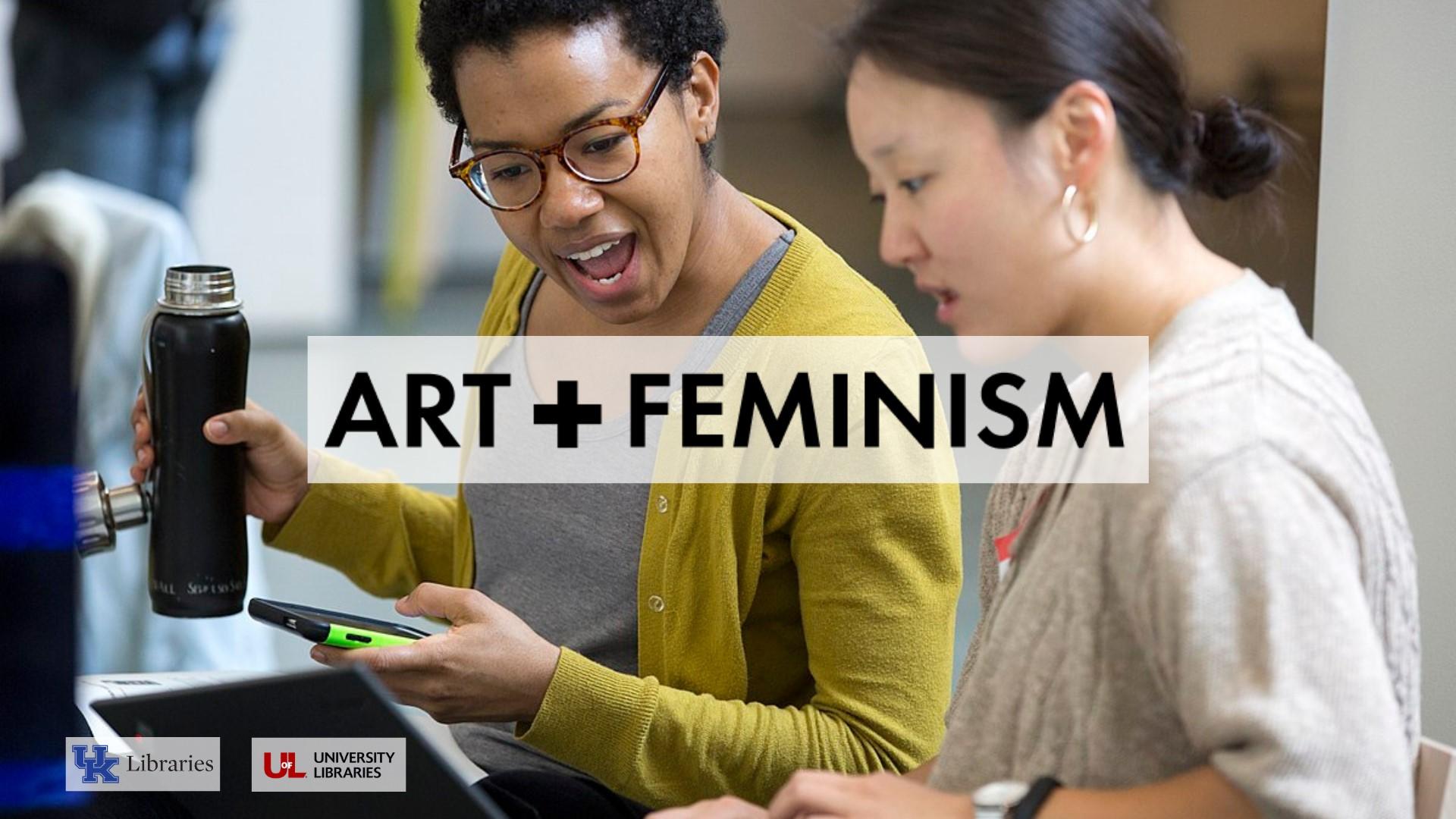Kentucky art libraries Art+Feminism Editathon