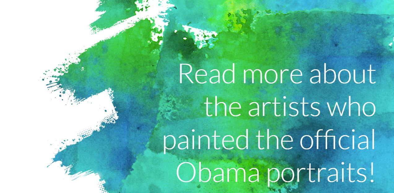 read more about the artists who created the obama portraits