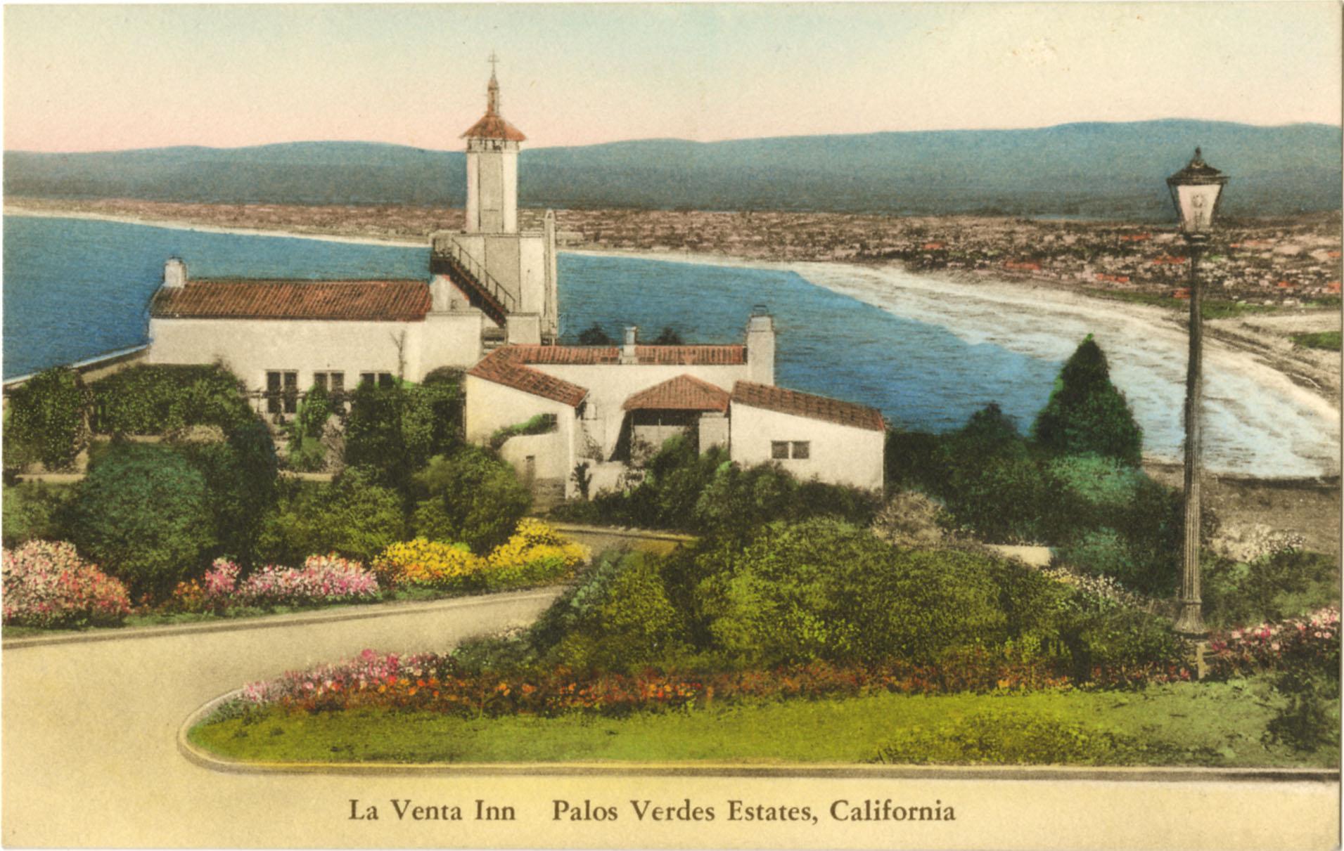 Postcard drawing of La Venta Inn