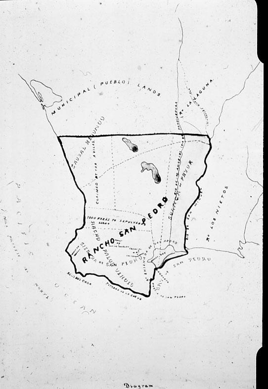 Original map of Rancho San Pedro