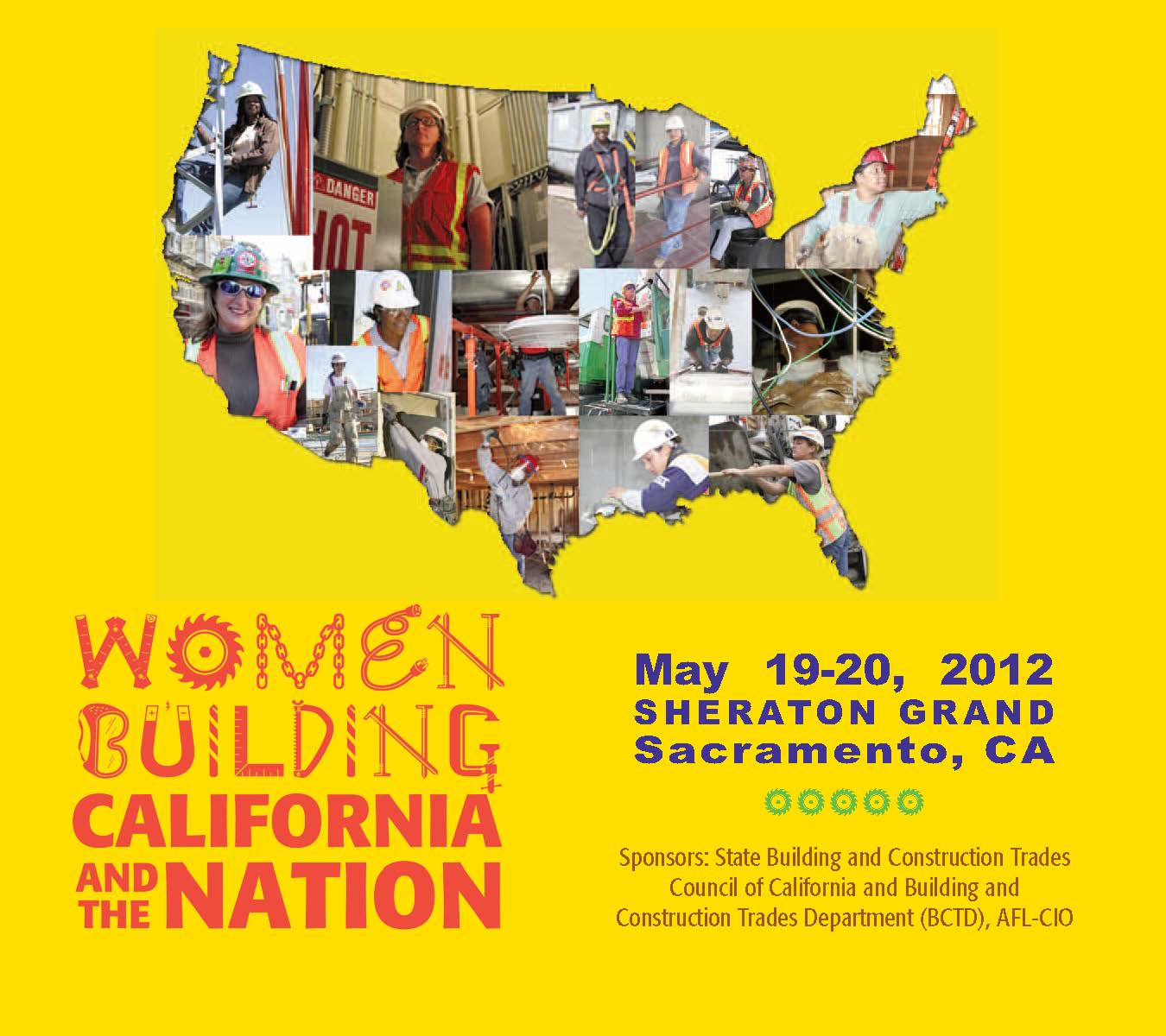 Women Building California and the Nation 2012 flyer