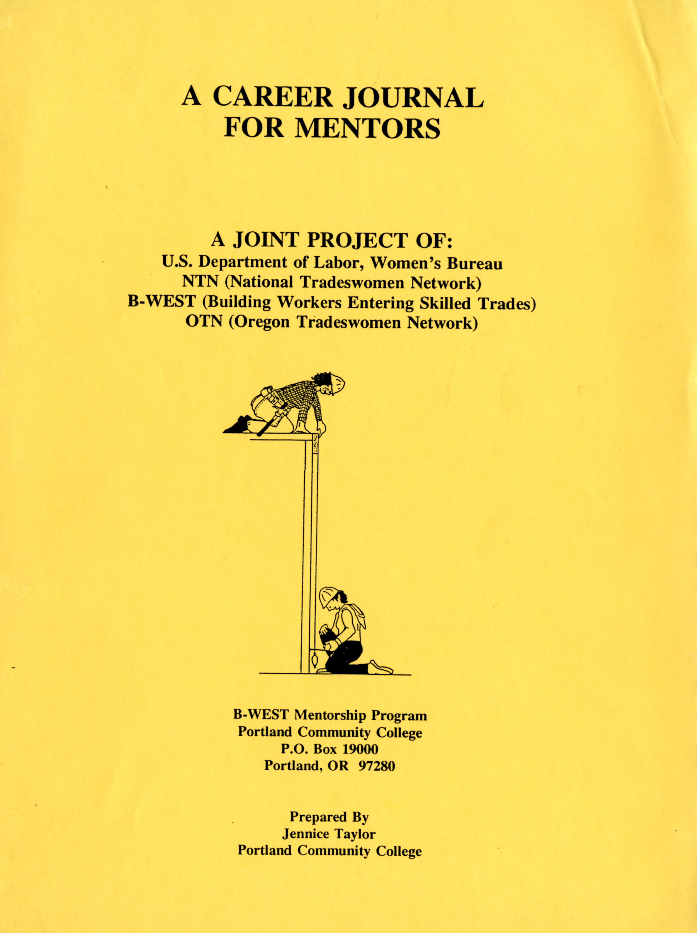 Report entitled A Career Journal for Mentors