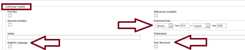 Select search limits