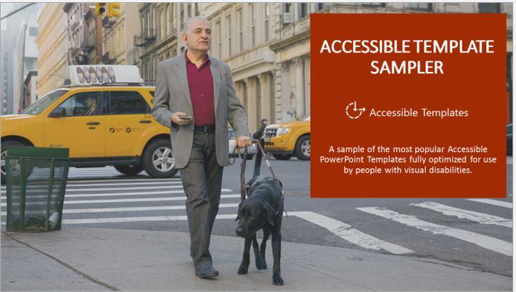 Accessible Template Sampler link