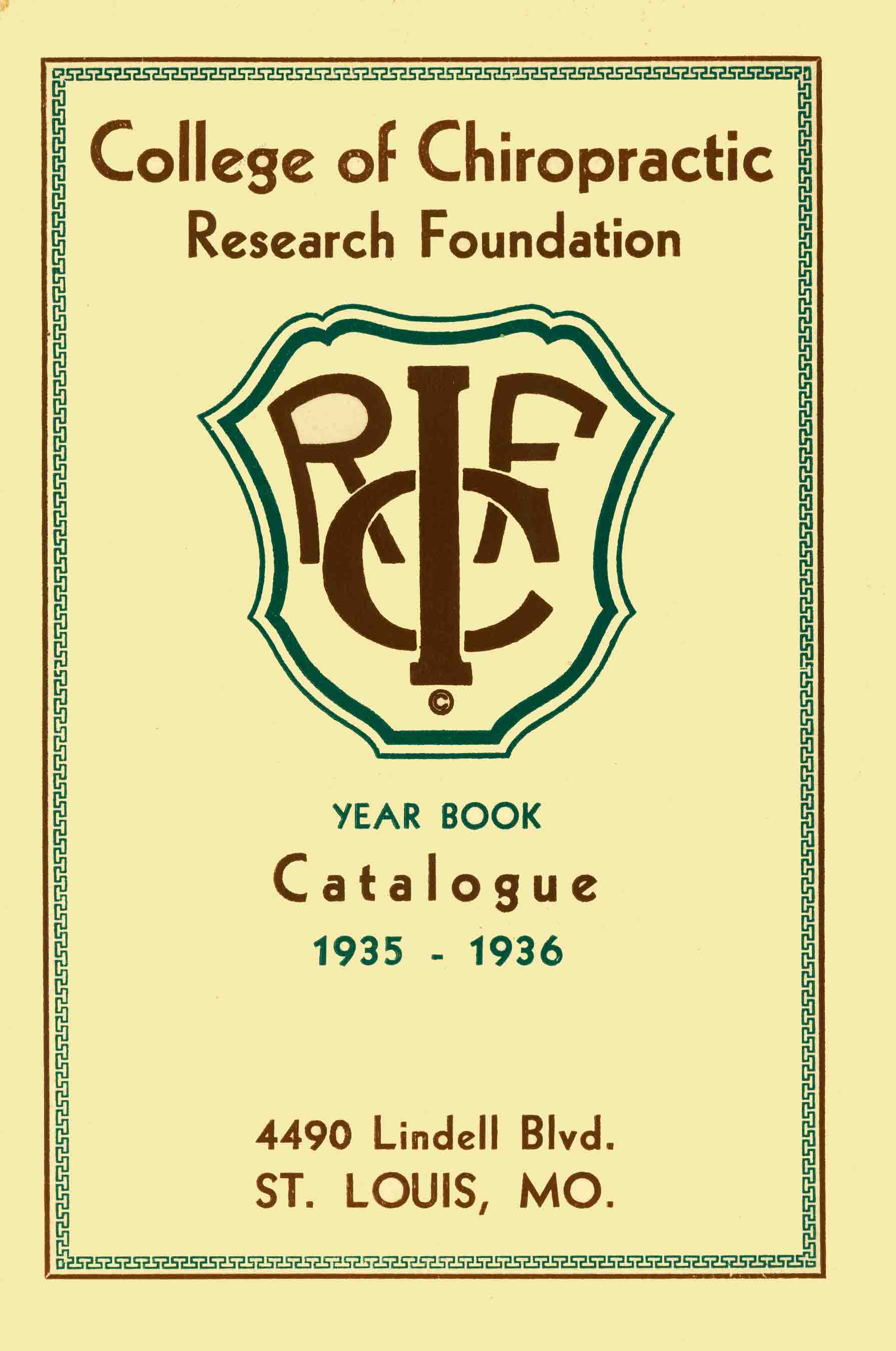 ICRF 1935-36 Catalog Cover