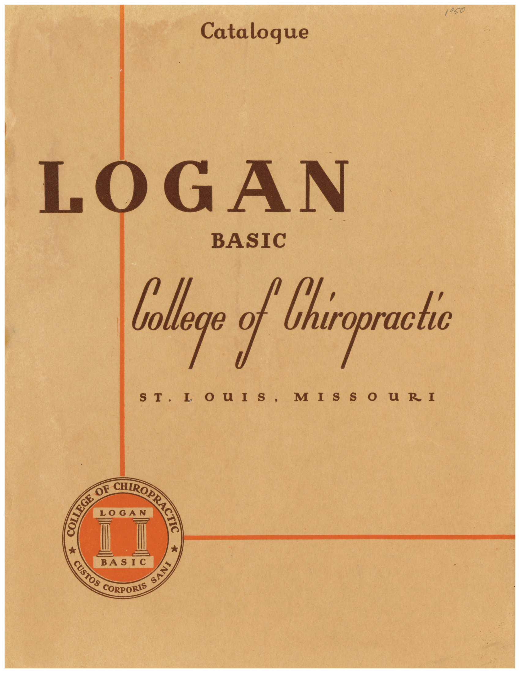 Logan 1951 catalog cover