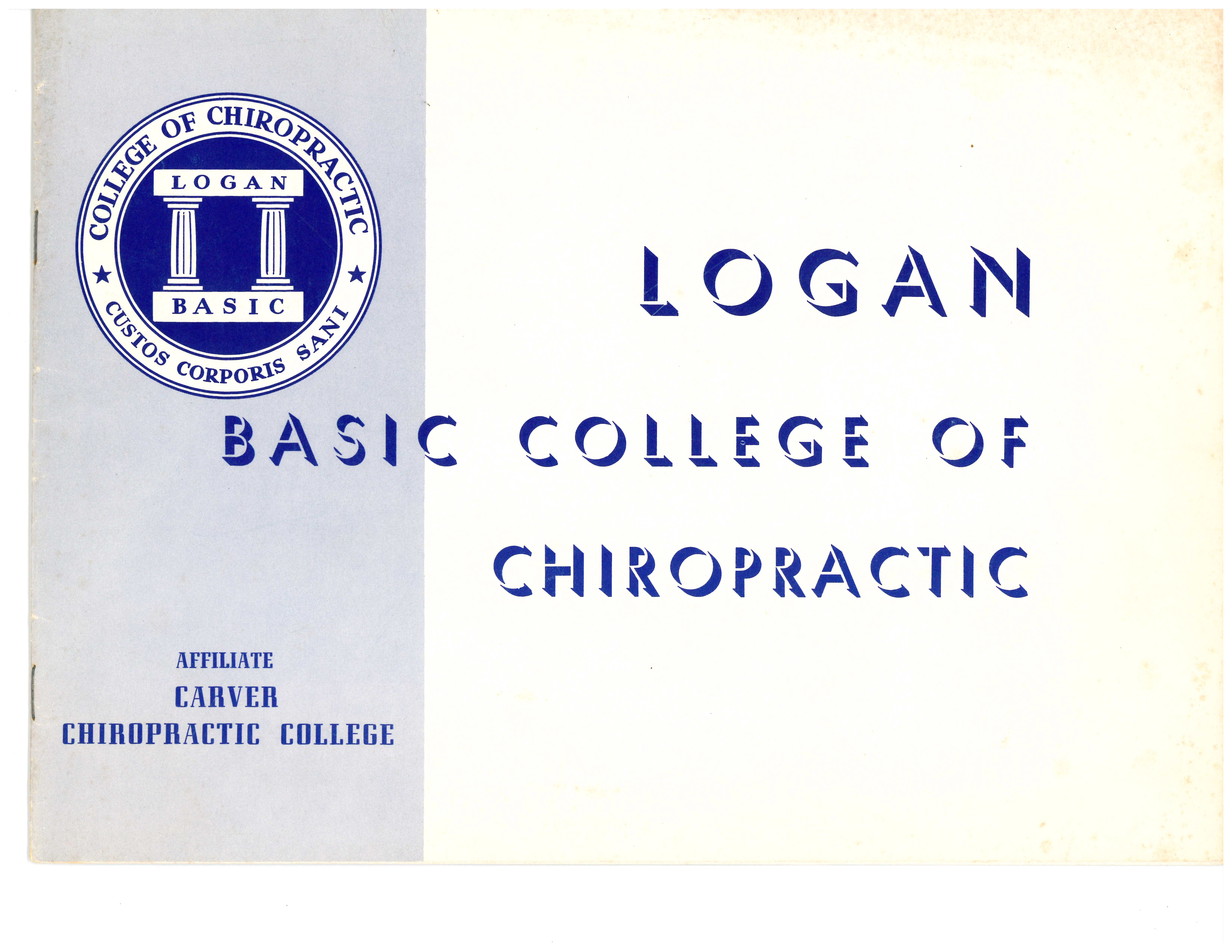 Undated brochure cover