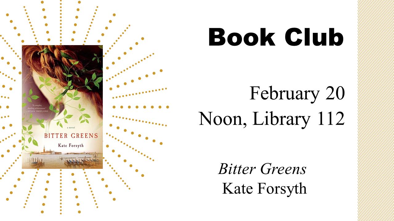 Book Club: Bitter Greens