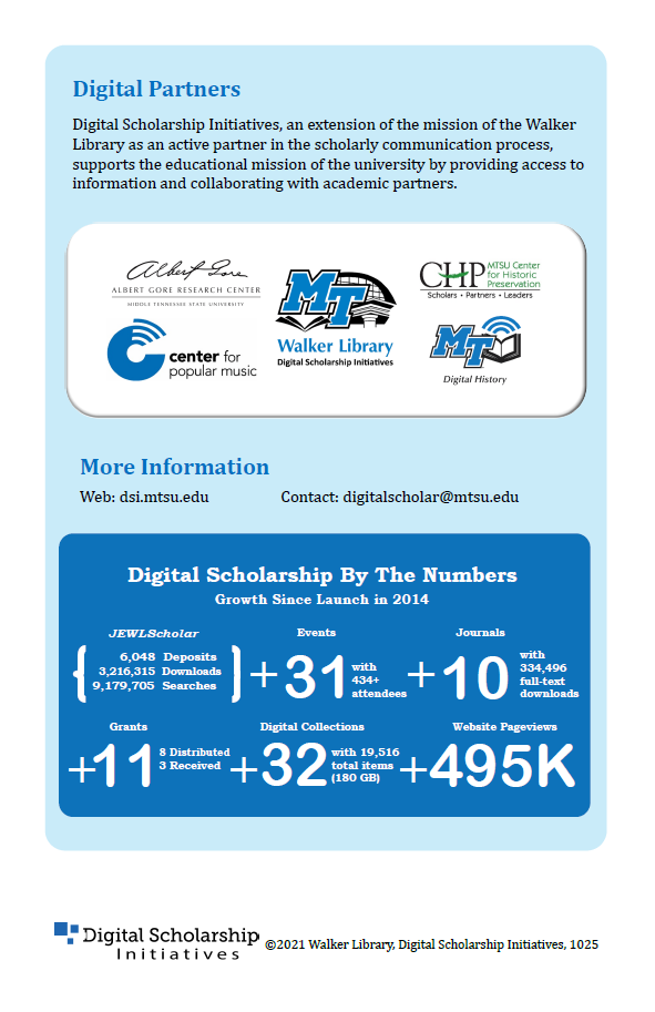 last page of DSI highlights brochure 2019-2020