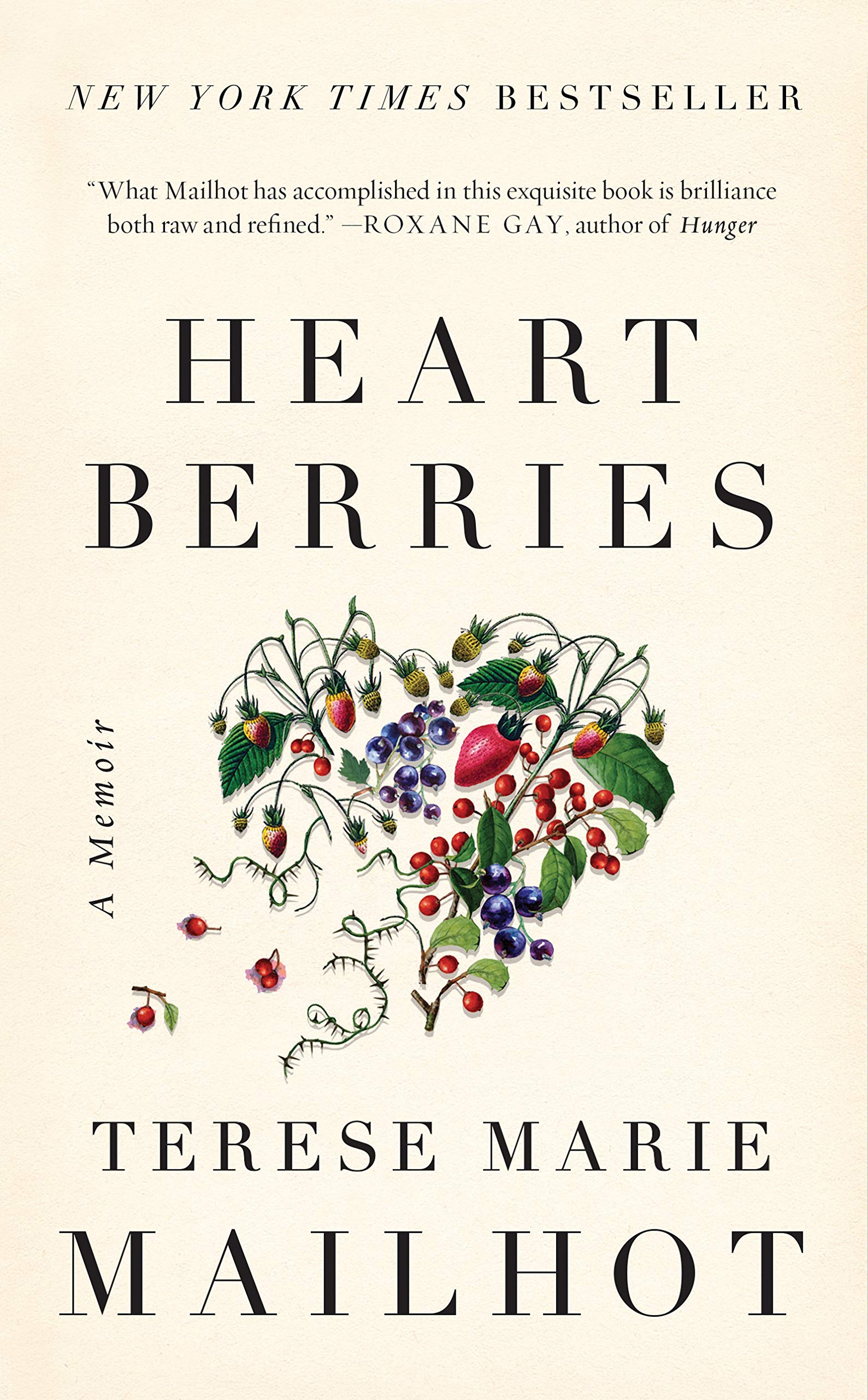 The digital cover of the book Heart Berries features a heart made out of berries.
