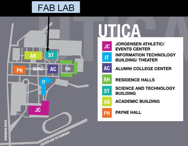 Map of Utica campus