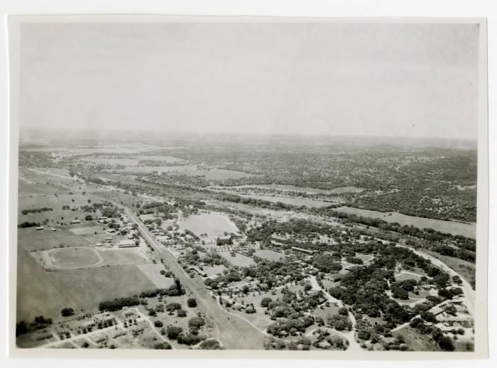 Aerial View of Campus circa 1956