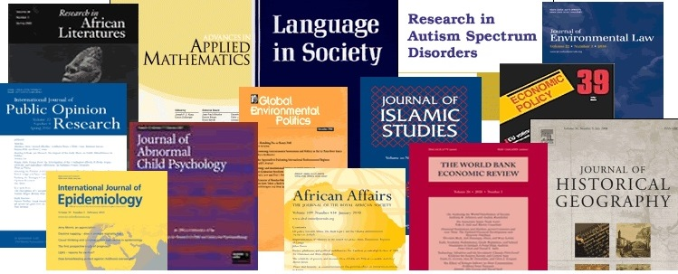 Scholary Journal Covers
