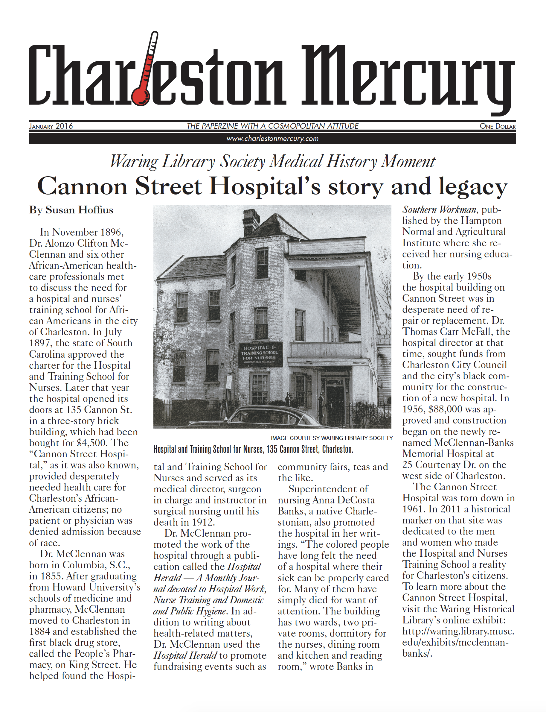 Charleston Mercury, January 2016