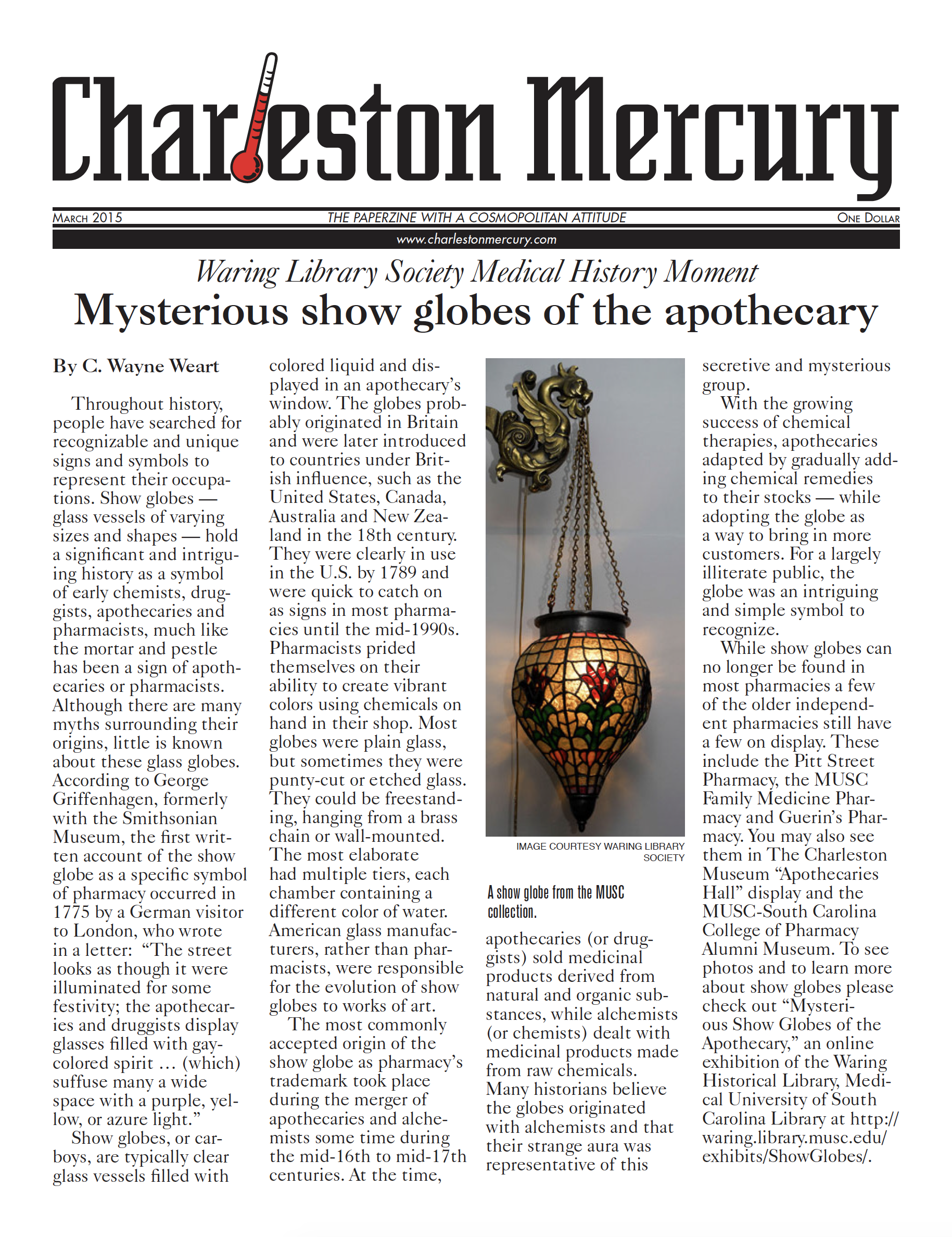 Charleston Mercury, March 2015