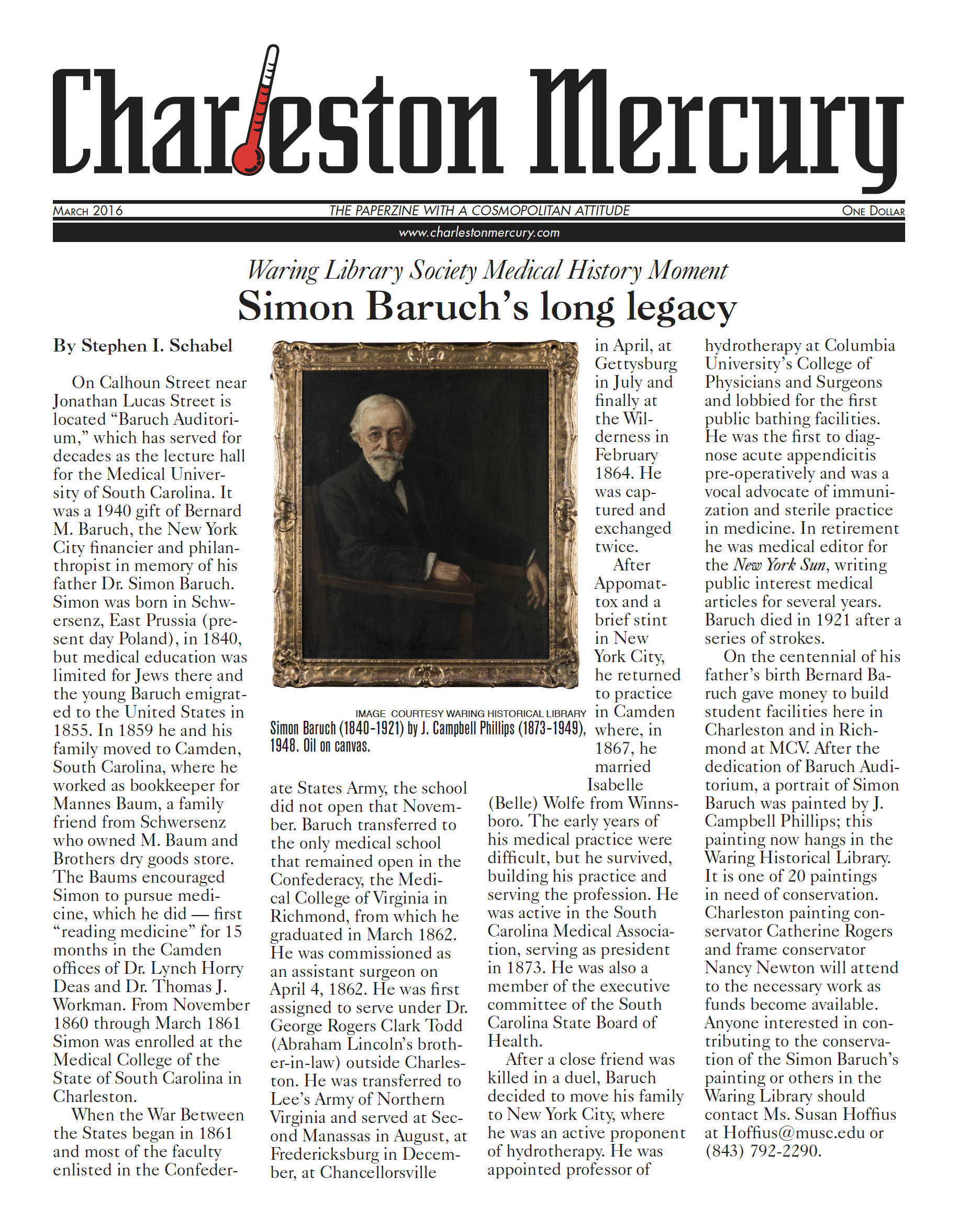 Charleston Mercury, March 2016