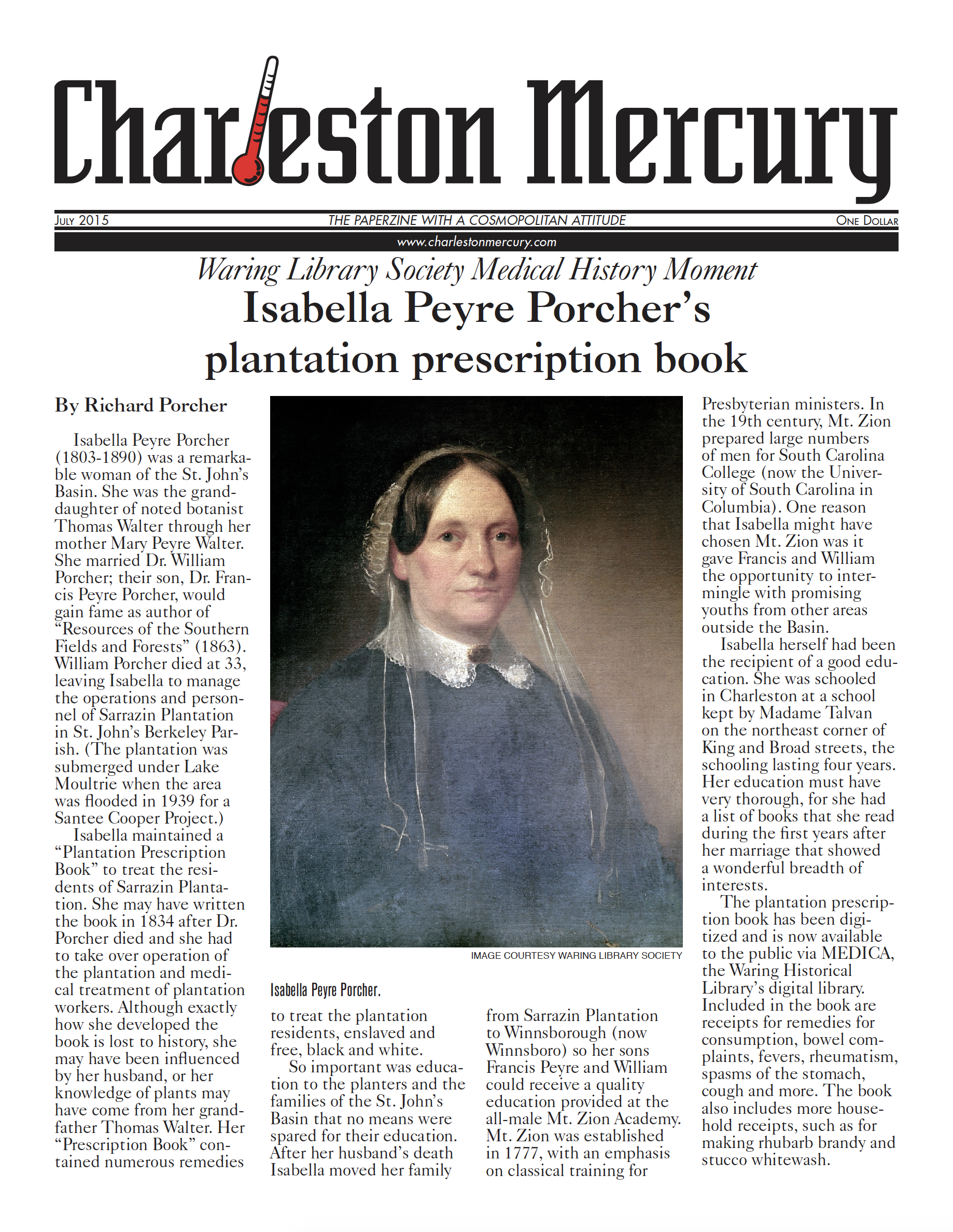 Charleston Mercury, July 2015