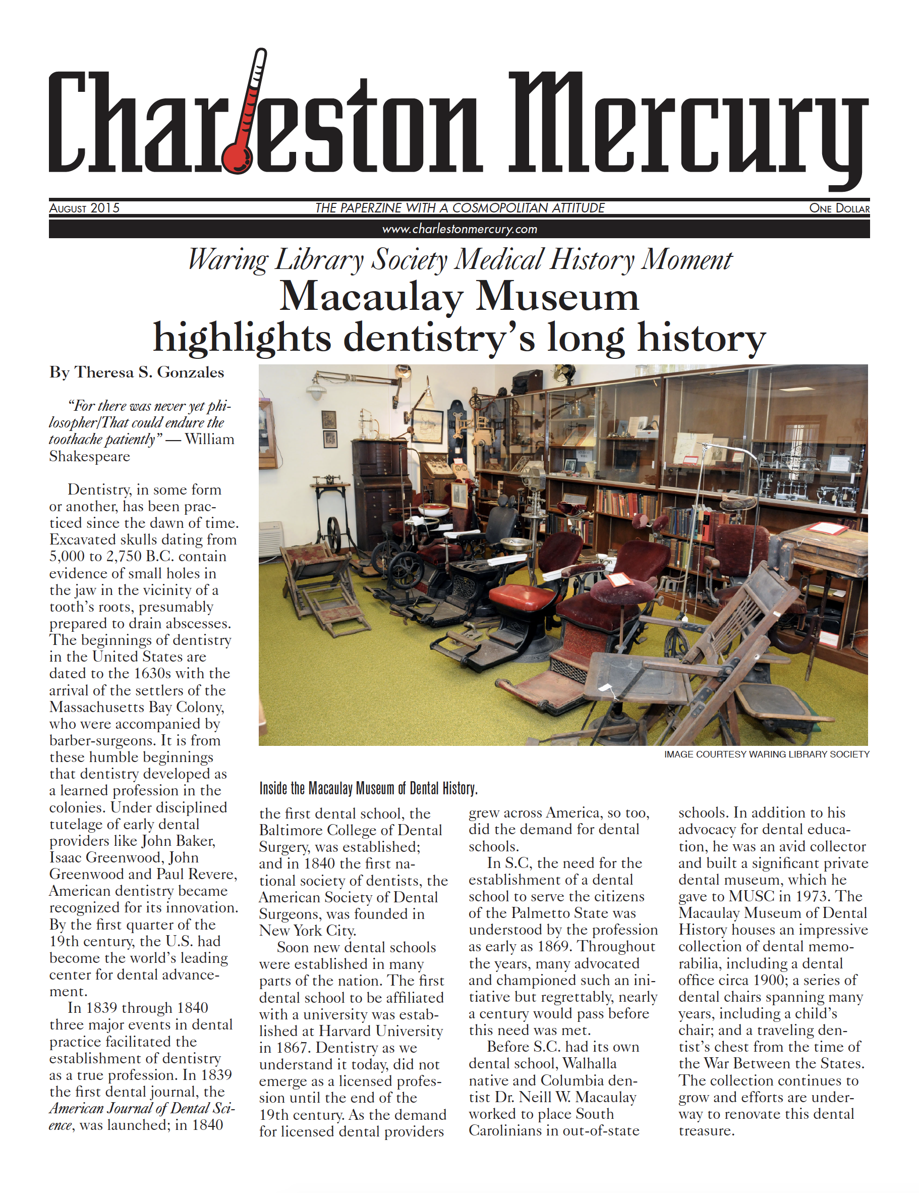 Charleston Mercury, August 2015