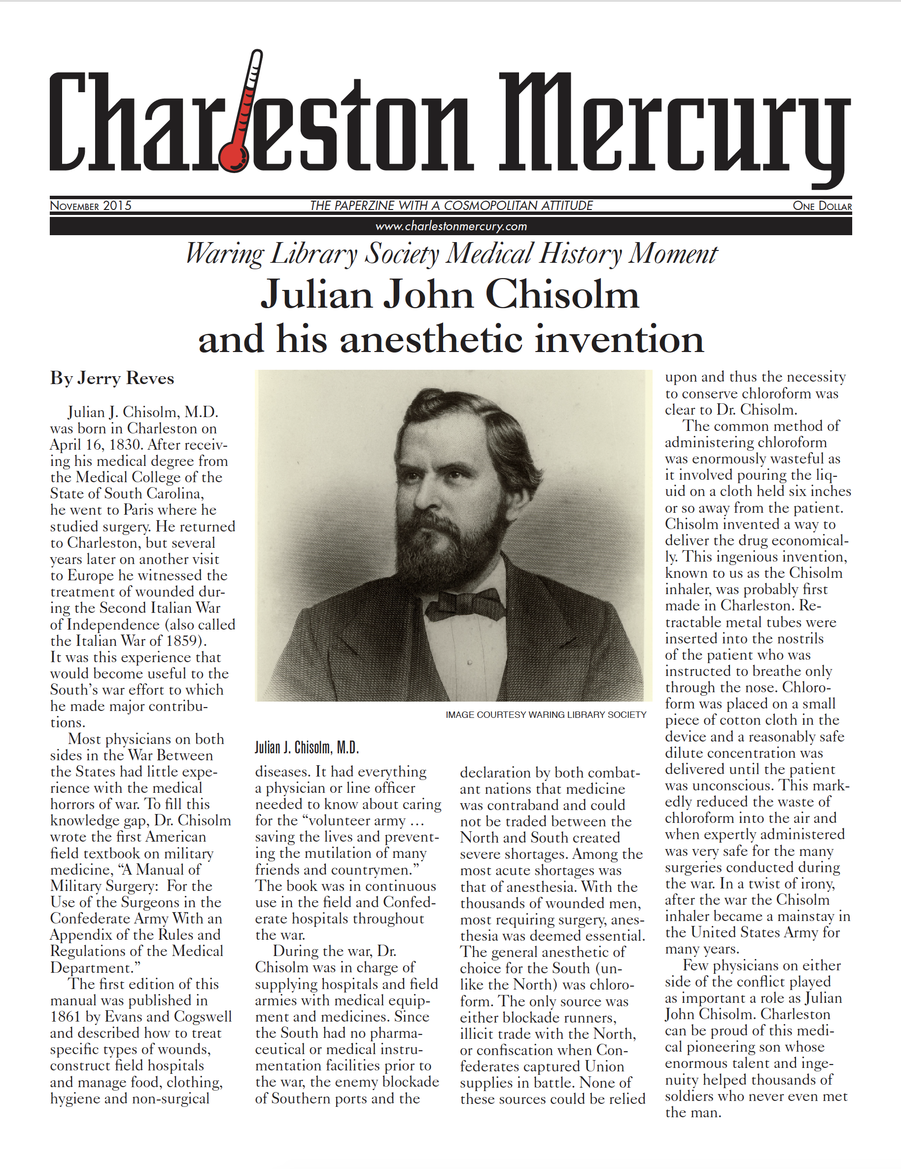 Charleston Mercury, November 2015