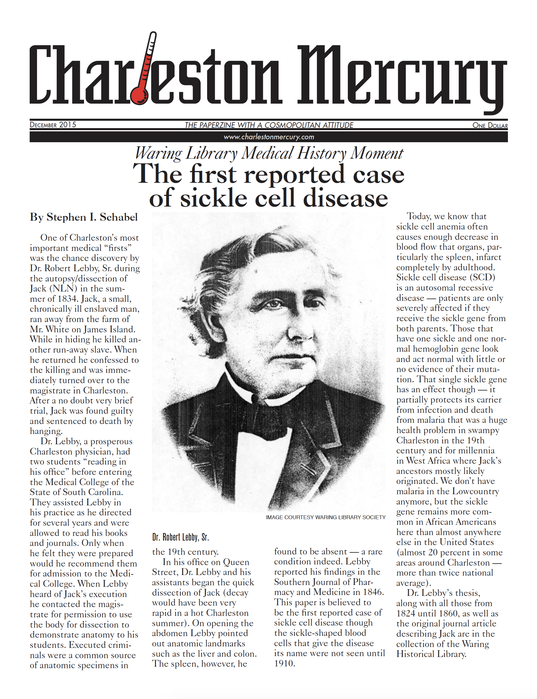 Charleston Mercury, December 2015