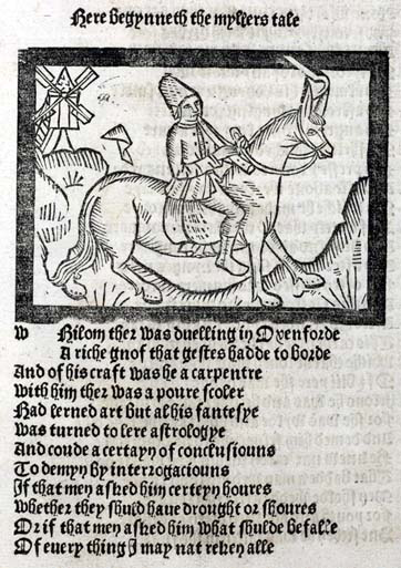 The Miller, one of the pilgrims in Chaucer's Canterbury Tales