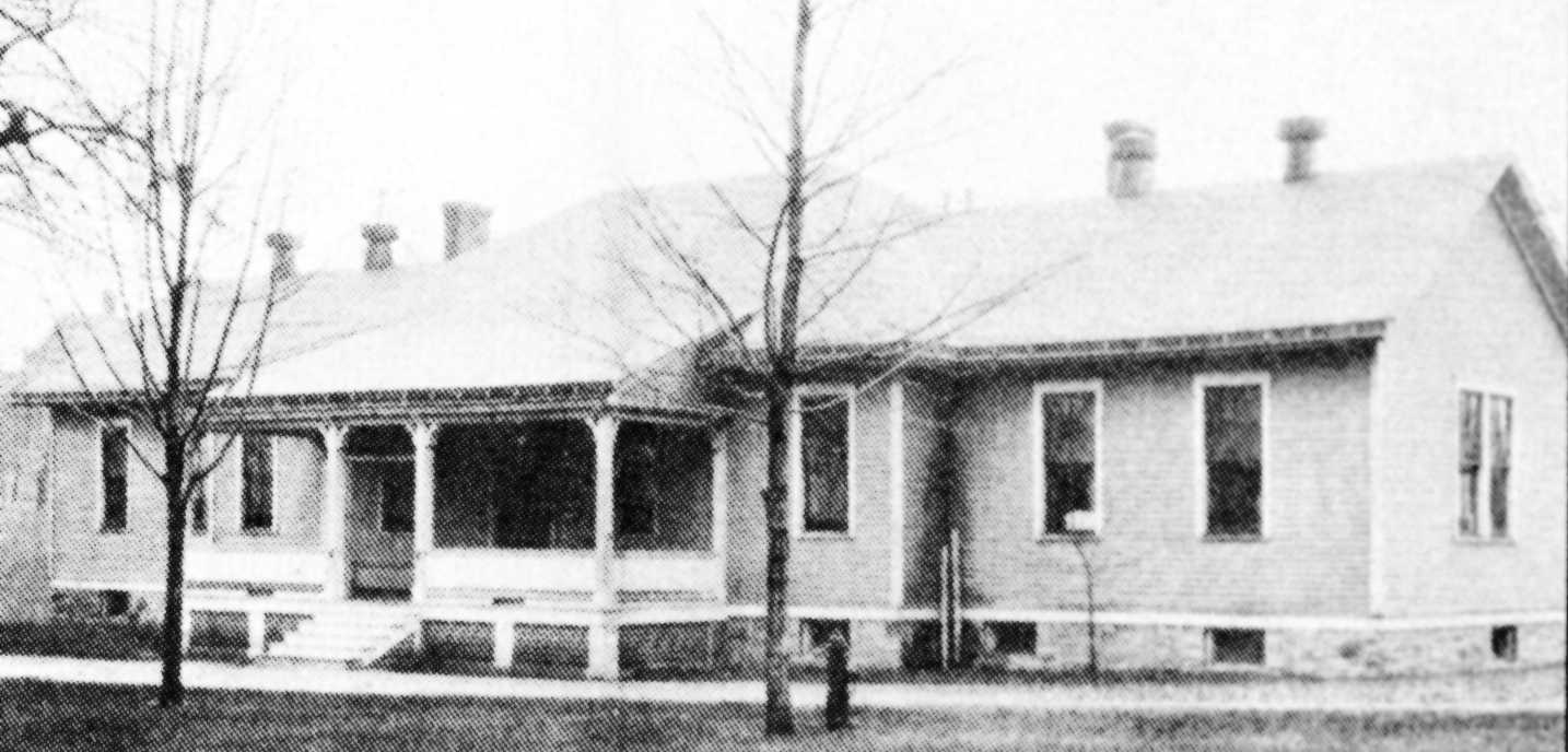 City Hospital building from Teall Avenue 1896
