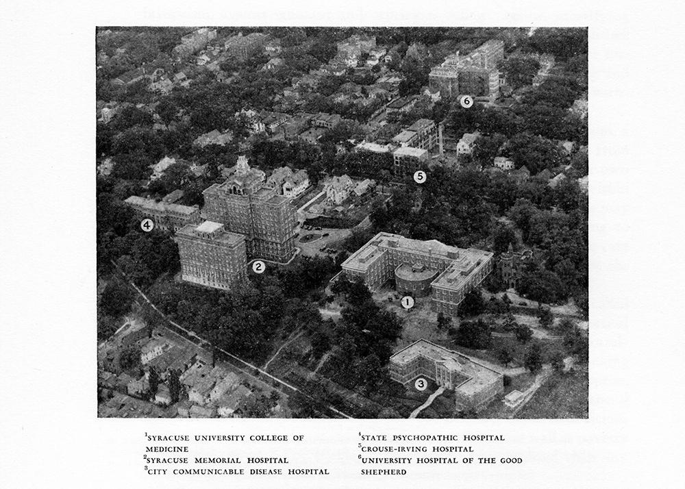 Map of Syracuse area hospitals