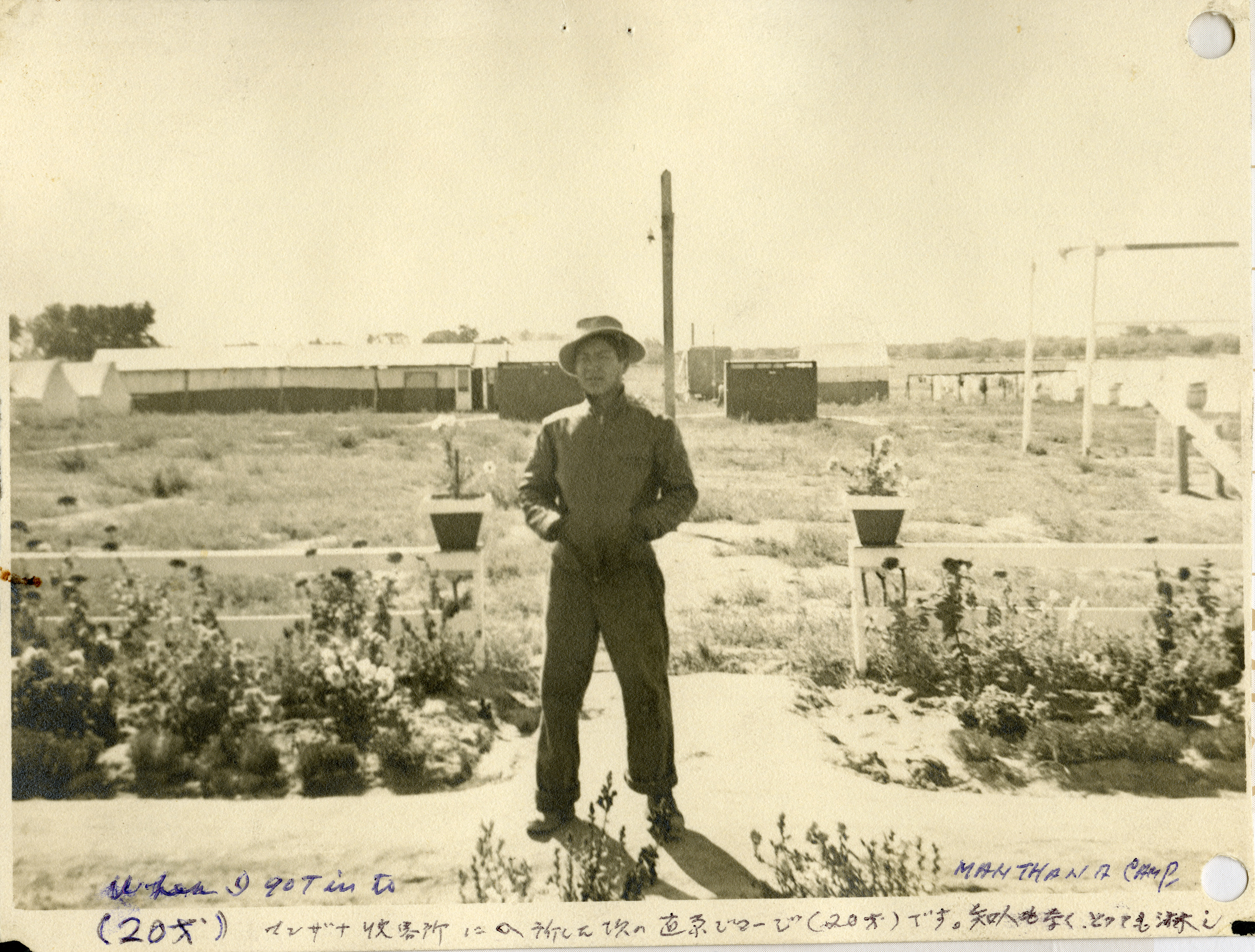 Goerge Naohara at the Manzanar incarceration camp