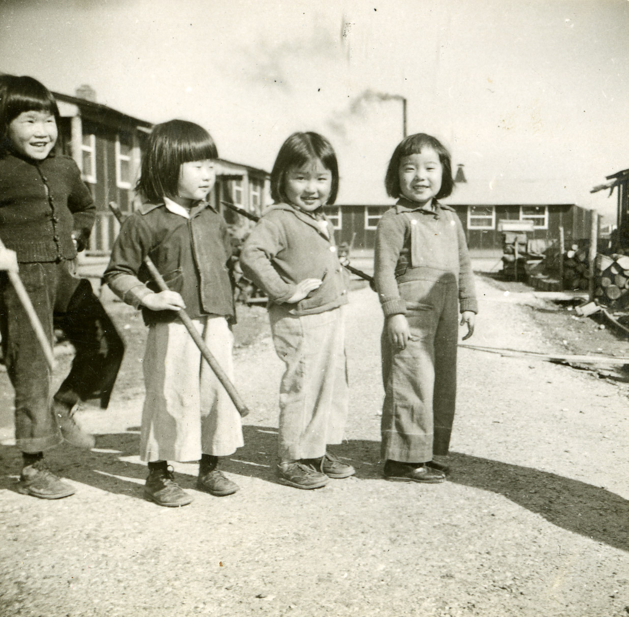 Female children at the Jerome incarceration camp