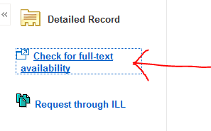 EbscoHost full-text availability image