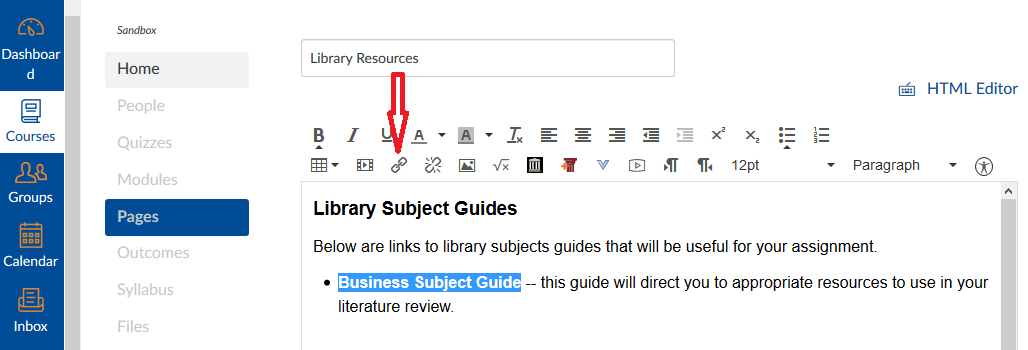 Subject guide insert image