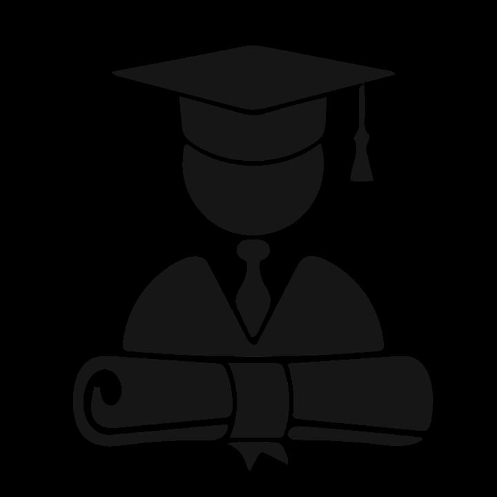 Image: Graduating student icon