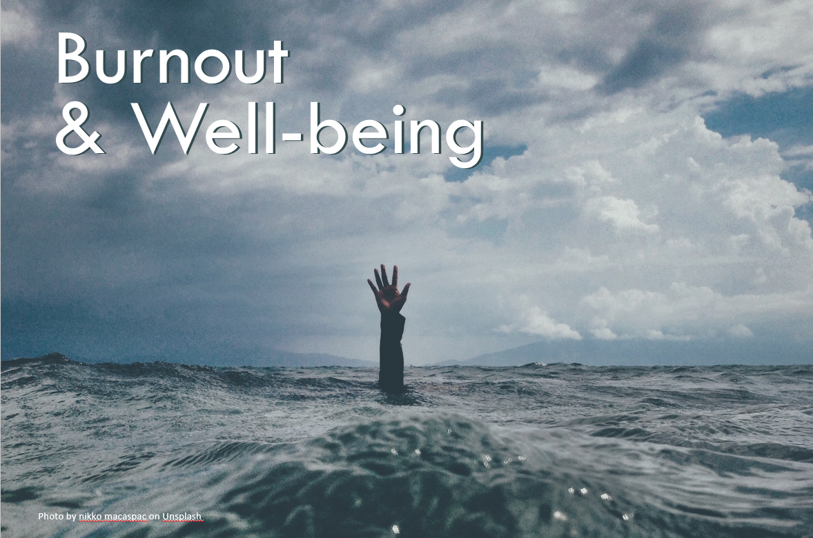 Person drowning to represent burnout