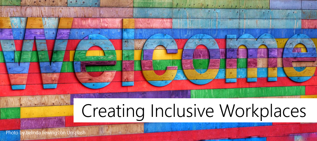 Multicolored welcome sign