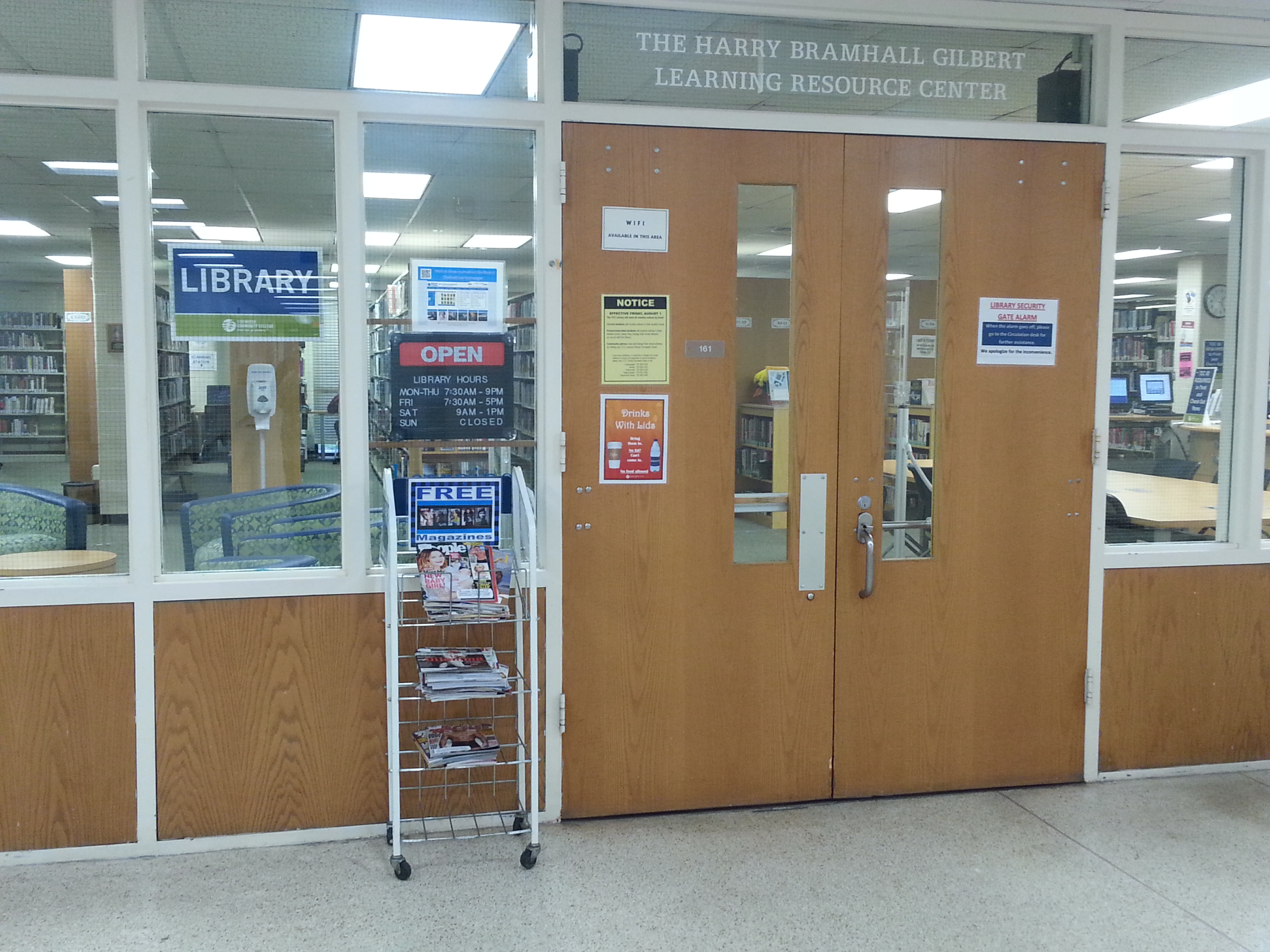 Image:  Chesapeake Campus Library Entrance