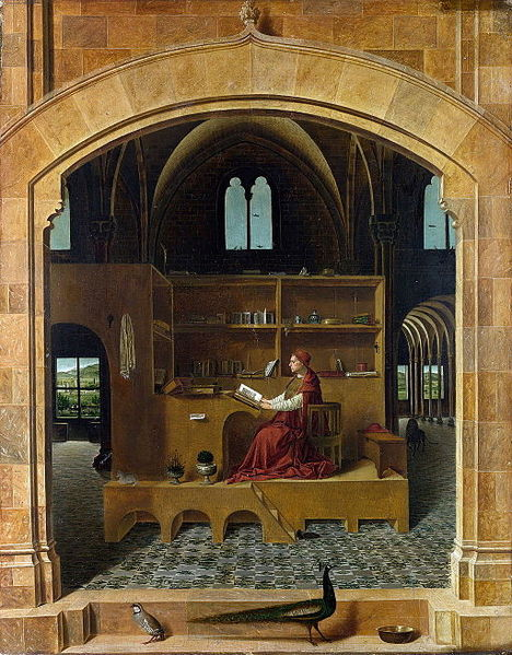 "Image:  ""Antonello da Messina - St Jerome in his study - National Gallery London"""
