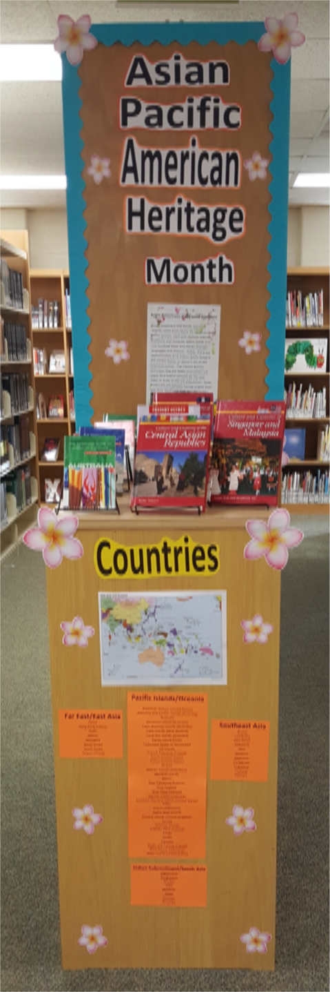 Image:  Library Display for Asian Pacific Heritage Month, May 2018
