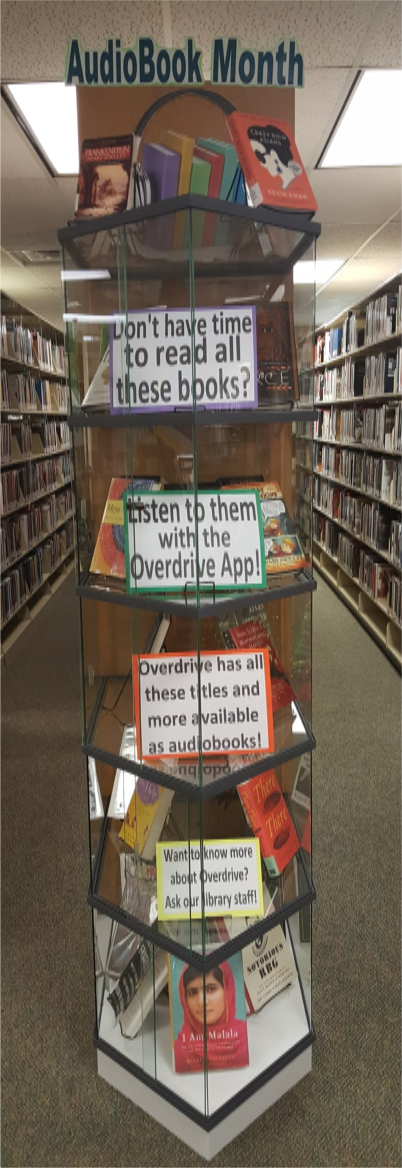 Display:  Audiobook Month, June 2019