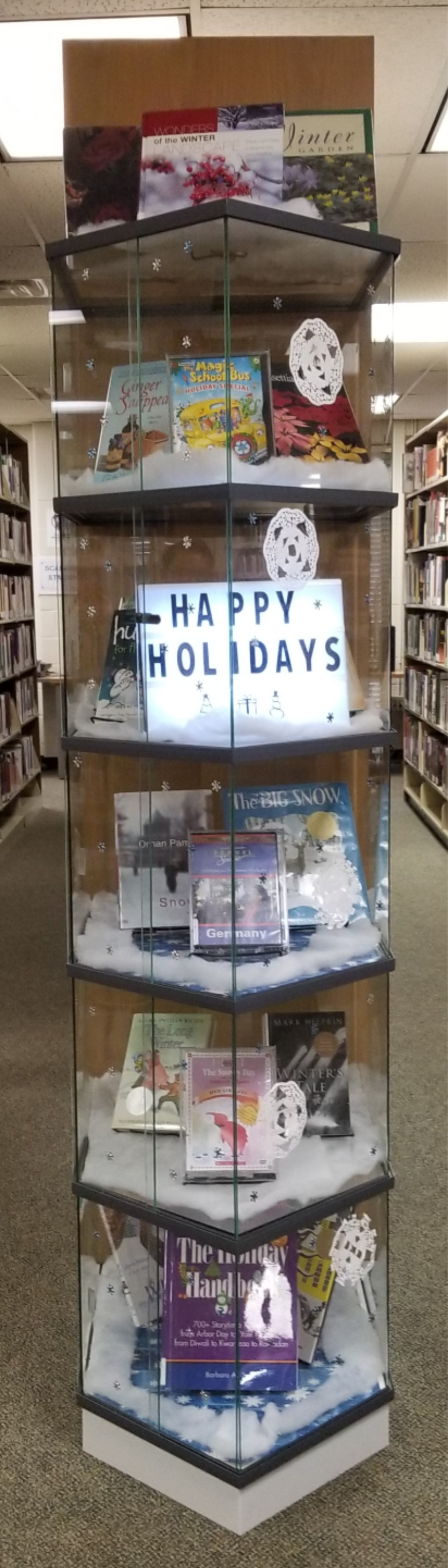 Image:  Display Case, Happy Holidays 2018