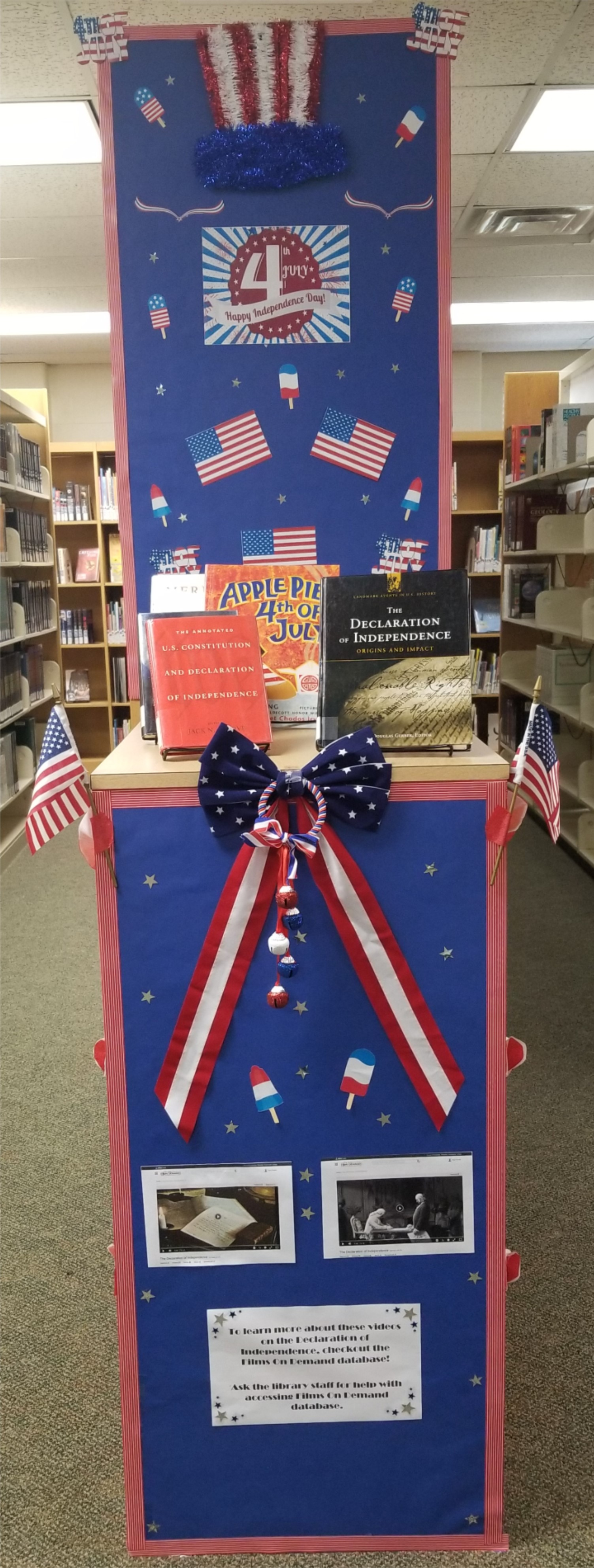 Image:  Library Display, July 4th USA Independence Day