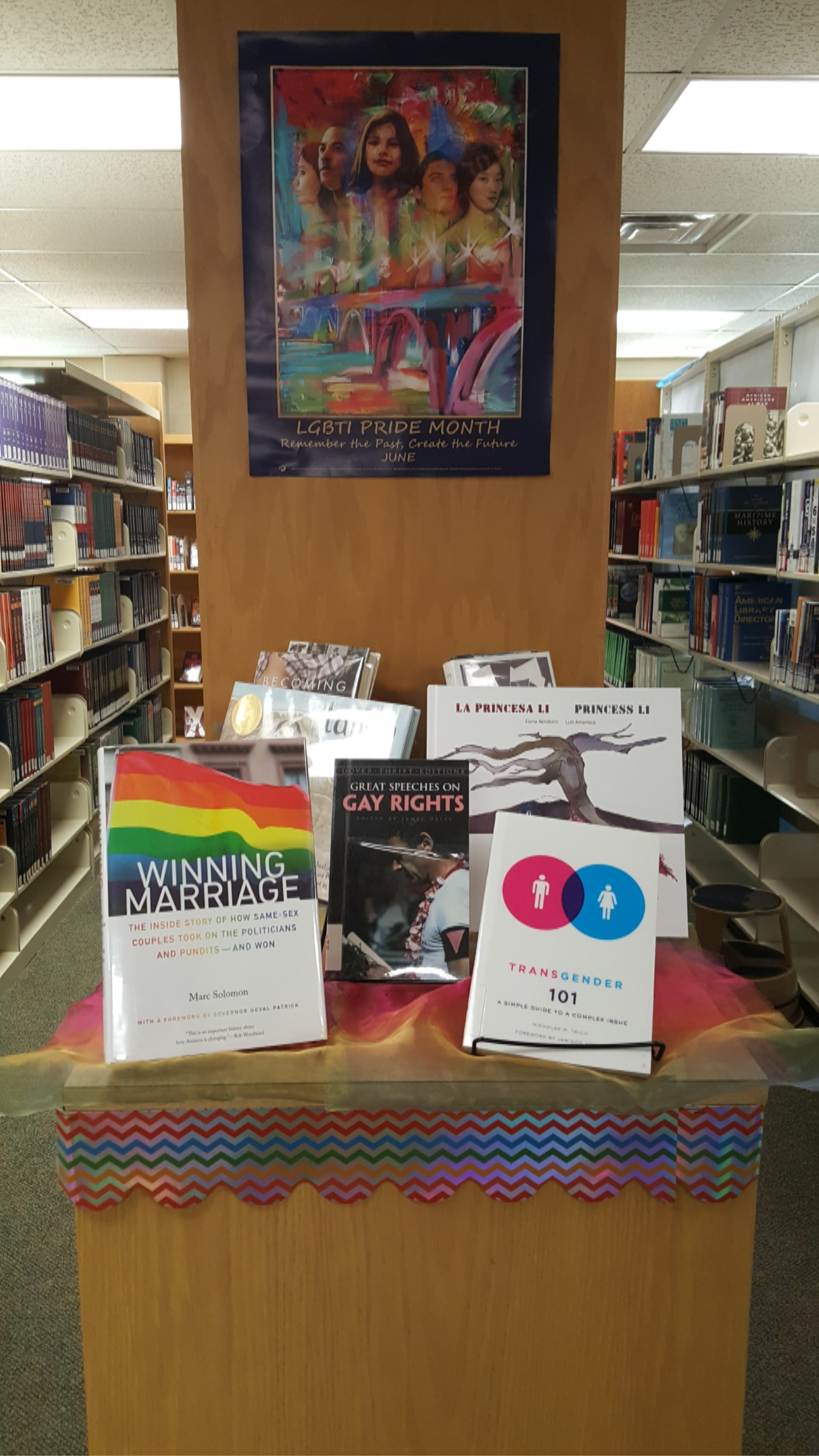 Image:  Library Display, LGBT Awareness Month, June 2018